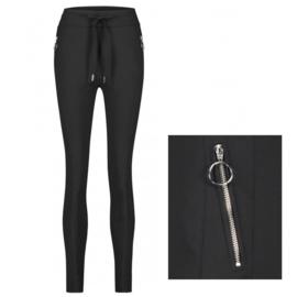 Jane Lushka blauwe travelstof broek Anna BB230UZ Skinny fit