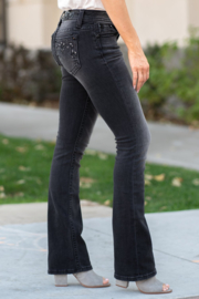 Miss Me donker grijze bootcut jeans M3661B