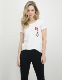 Jane Lushka wit T-Shirt Frankie JL Hug P620AW06