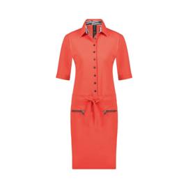 Jane Lushka 2021 Gio rode travelstof jurk U921291Z
