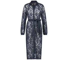 Jane Lushka 2021 Edith blauwe kanten jurk M9212274