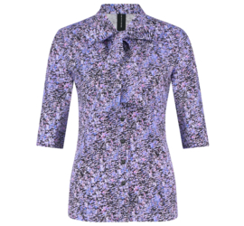 Jane Lushka 2021 Corina paarse travelstof blouse UNY72122339P met pussy bow kraag