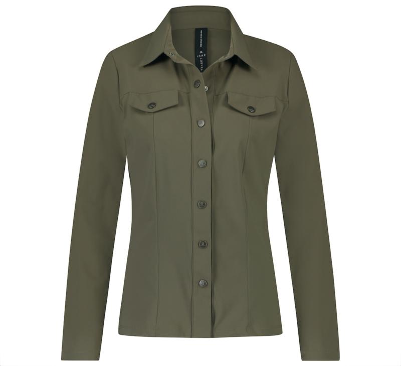 Jane Lushka 2021-2022 Sesil army travelstof blouse U721180