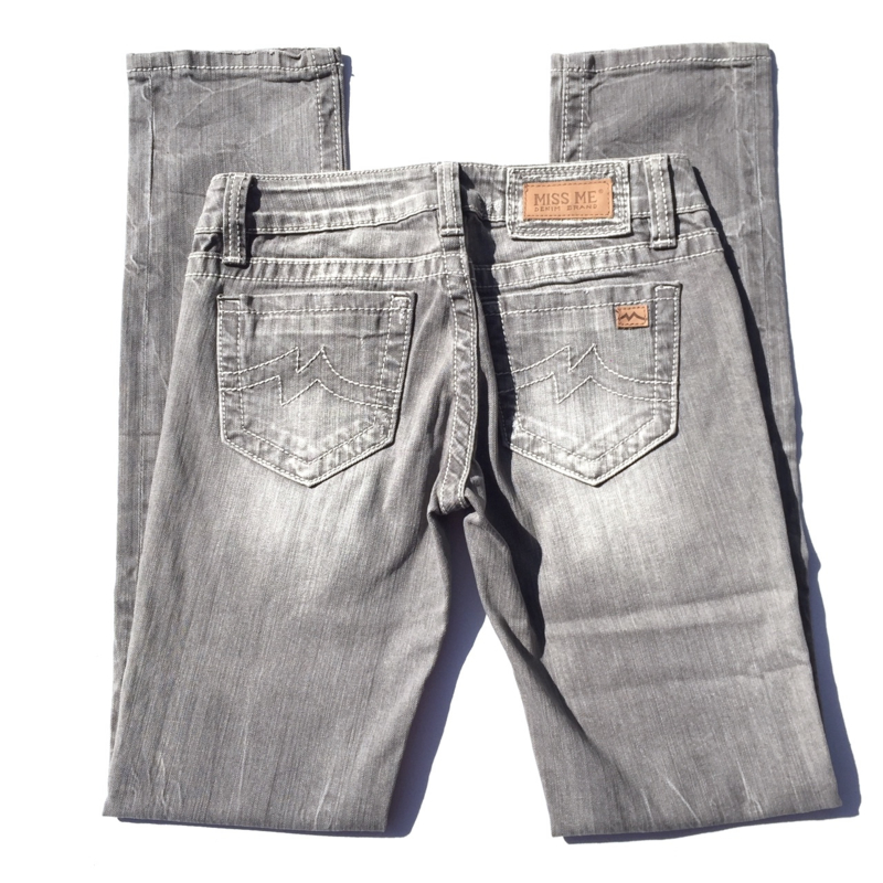 Miss Me grijze sunny skinny jeans JPD1003S12