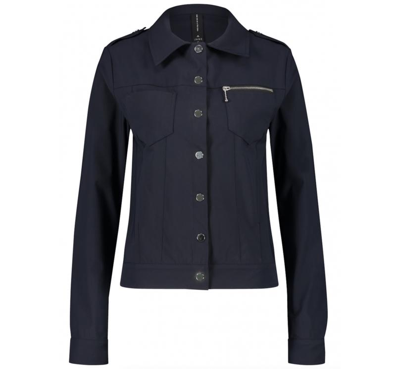 Jane Lushka blauwe travelstof jacket Riva U120AW950Z-1