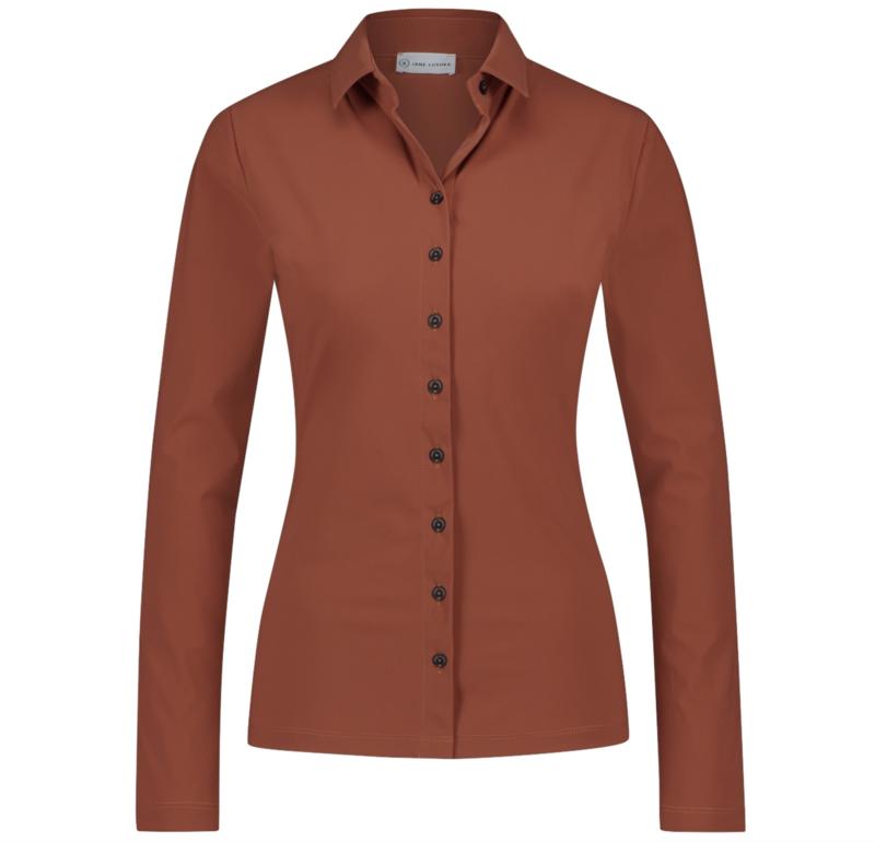 Jane Lushka 2021-2022 Kikkie brick travelstof blouse U7211100