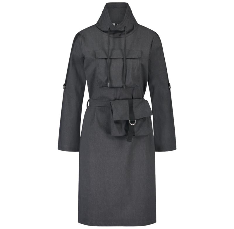 *AKTIE* Jane Lushka 2021-2022 Kasia travelstof jurk met tasje UNN92114095G old black