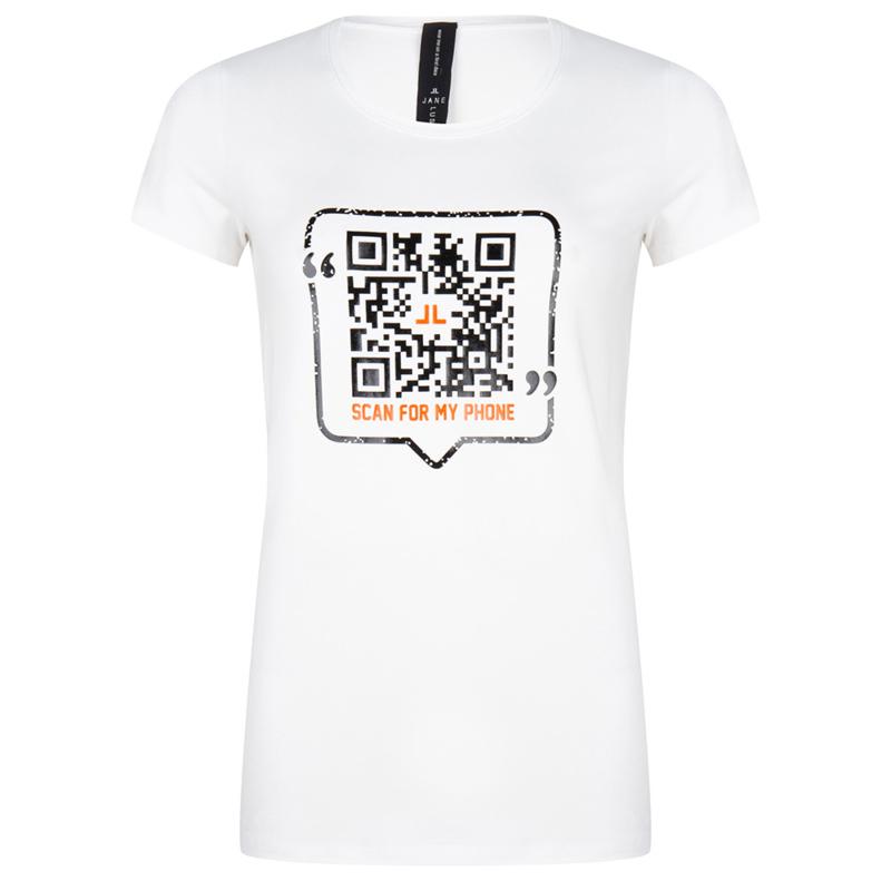 Jane Lushka wit T-Shirt Frankie P620SS300 QR code