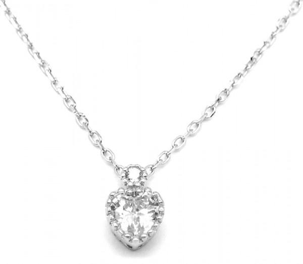 Ketting 925S silver hart SN104-161