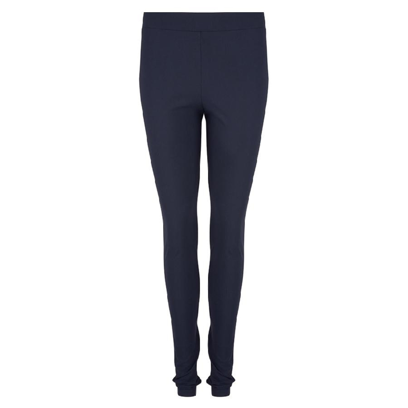 Jane Lushka travelstof legging blauw effen (basis collectie)