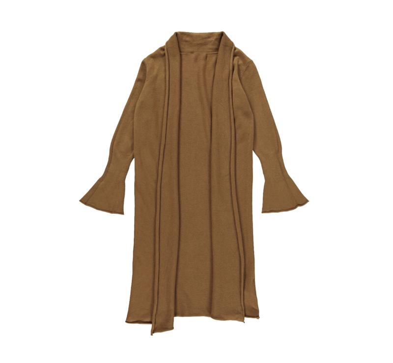 Turquoise by Daan 2021-2022 - Camel bruin lang vest met flair mouw