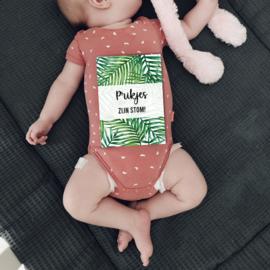 Mijlpaalkaarten Baby's eerste jaar | Tropical leaves