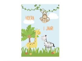 Uitnodiging |  Jungle (5 stuks)