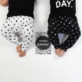 Mijlpaalkaarten baby's eerste jaar | zwart wit (tweeling editie)