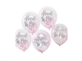 Ballon   About to pop (roze)