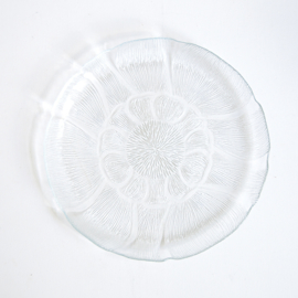 Vintage - serveerschaal - bloemvormig - Arcoroc