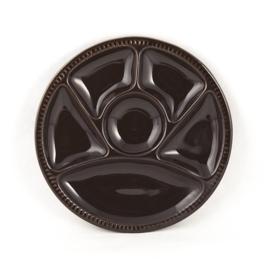 Bord - vintage - vakverdeling - chocoladebruin