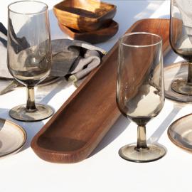 Glas - vintage - voor water, wijn, bier, limonade