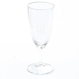 Glas - op voet - set van zes - (2x beschikbaar)