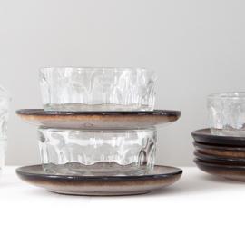Schaal - vintage - Arcoroc - set van vier