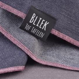 Denim tafelkleed Bliek Tof Tafelen d.blauw/roze