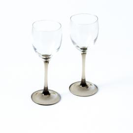 Wijnglas - vintage - set van twee ( 4 x 2 beschikbaar)