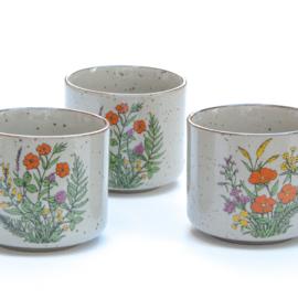 Mok - vintage - set van drie