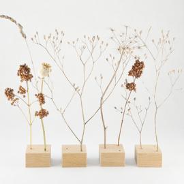 4 Tafelblokken voor droogbloemen/ takjes