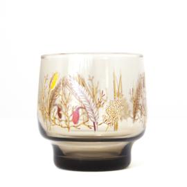 Waterglas - vintage - met decor - Luminarc - set van twee