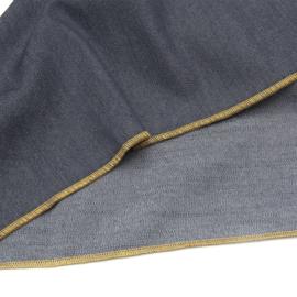 Denim tafelkleed - Bliek Tof Tafelen - blauw/geel