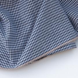 Ruit tafelkleed - Bliek Tof Tafelen -  lichtroze rand