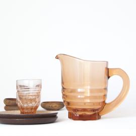 Karaf - vintage - persglas ( 2 x )