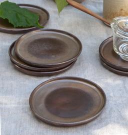 Bordje - vintage- set van zeven