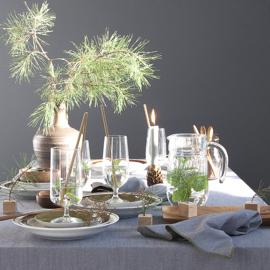 Denim tafelkleed Bliek Tof Tafelen grijs/groen