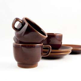 Espressokop en schotel - vintage - set van twee ( 2 x 2 )