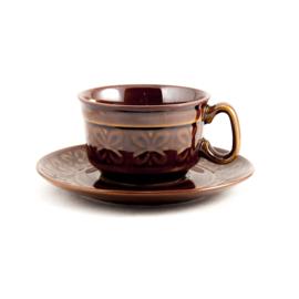 Koffiekop en schotel - vintage - Pruszkow