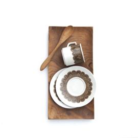 Espressokop en schotel - vintage - Winterling - set van twee