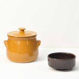 Soeppan/ovenschaal/ovenpot - vintage - met deksel