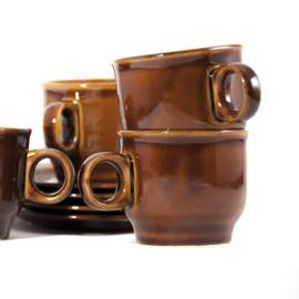 Koffiekop en schotel - vintage - Pruszkow ( 11 stuks verkrijgbaar)