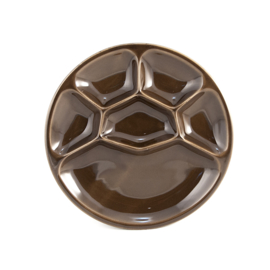 Bord - vintage - vakverdeling - licht chocoladebruin