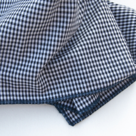 Ruit tafelkleed - Bliek Tof Tafelen -  blauwe rand