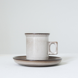Espressokop en schotel - vintage - Potterie De Driehoek