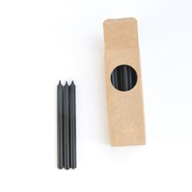 Lange potloodkaars - Rustik Lys - zwart - 20 stuks