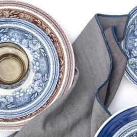 Denim servet Bliek Tof Tafelen grijs/blauw