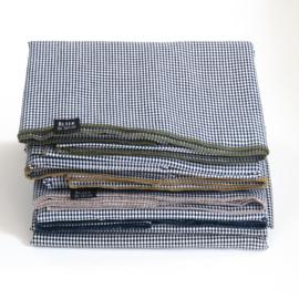 Ruit tafelkleed - Bliek Tof Tafelen - groene rand