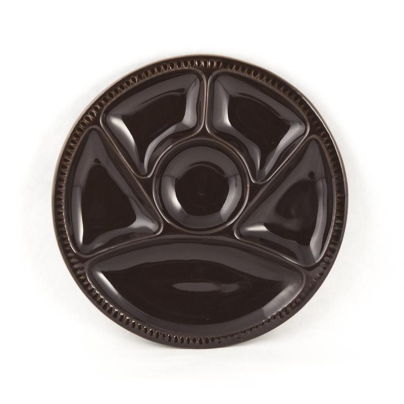 Fonduebord - vintage - chocoladebruin