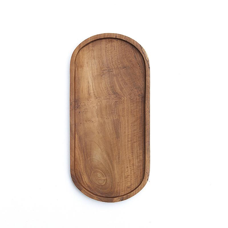 Ovale schaal - tray - teak - Original Home