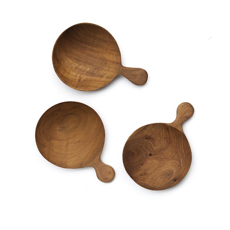 Schaaltje - teak - Original Home - set van drie