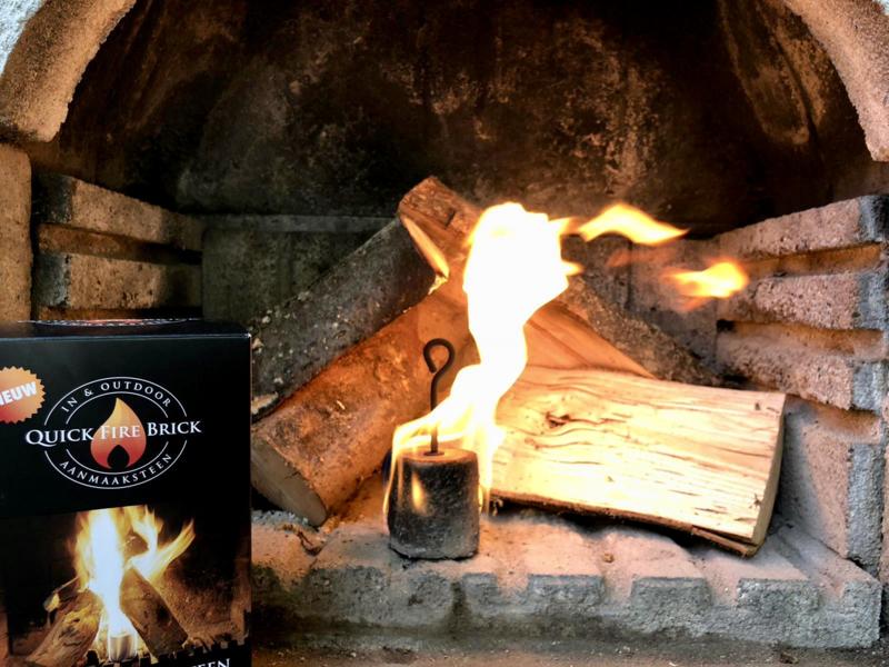 Quick Fire Brick voor de buitenhaard en BBQ