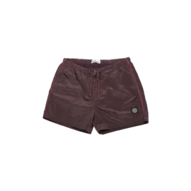 STONE ISLAND SWIMSHORT NYLON METAL DARK BURGUNDY